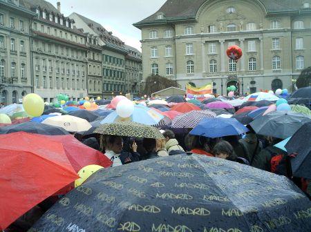 Demonstration für Bundesrätin Widmer-Schlumpf