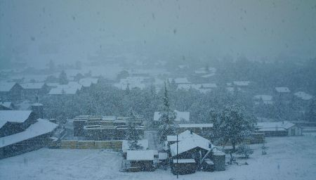 Am Morgen kam der Schnee