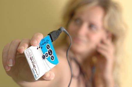 Musikplayer im Kreditkarten-Format